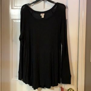 Black long sleeve tunic style